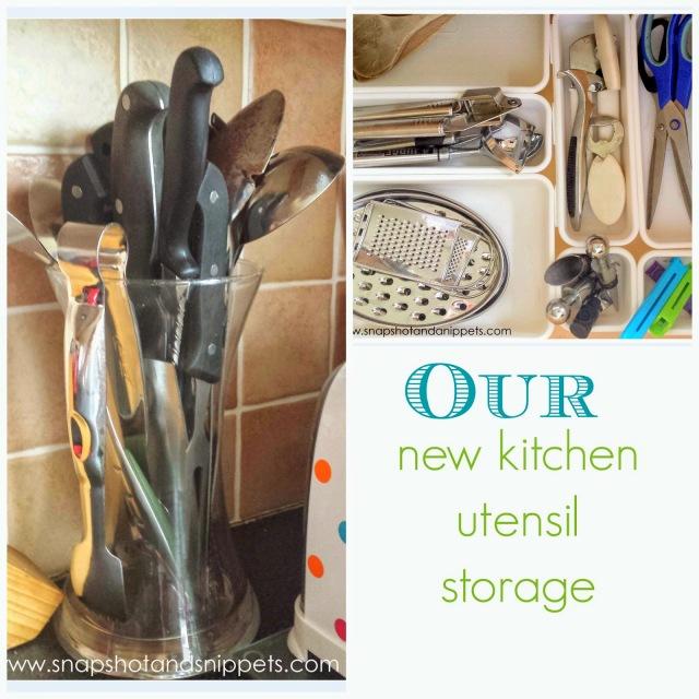 Our Kitchen utensil storage
