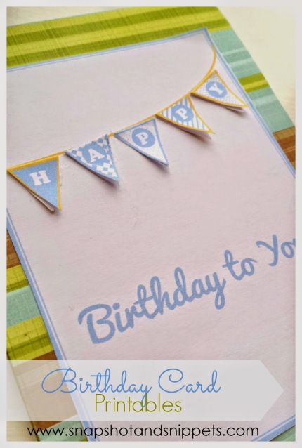 birthday card - blue