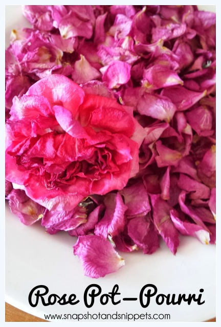 Hand dried rose petals