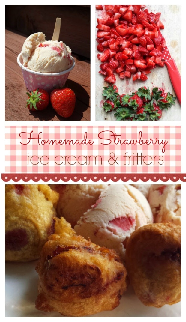 Home made strawberry ice cream