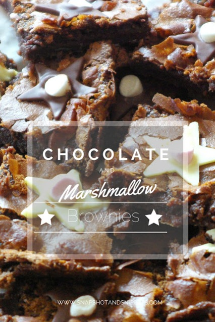 chocolate and marshmallow-brownies